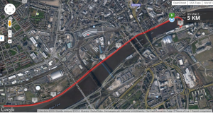 Race map Quayside 5k