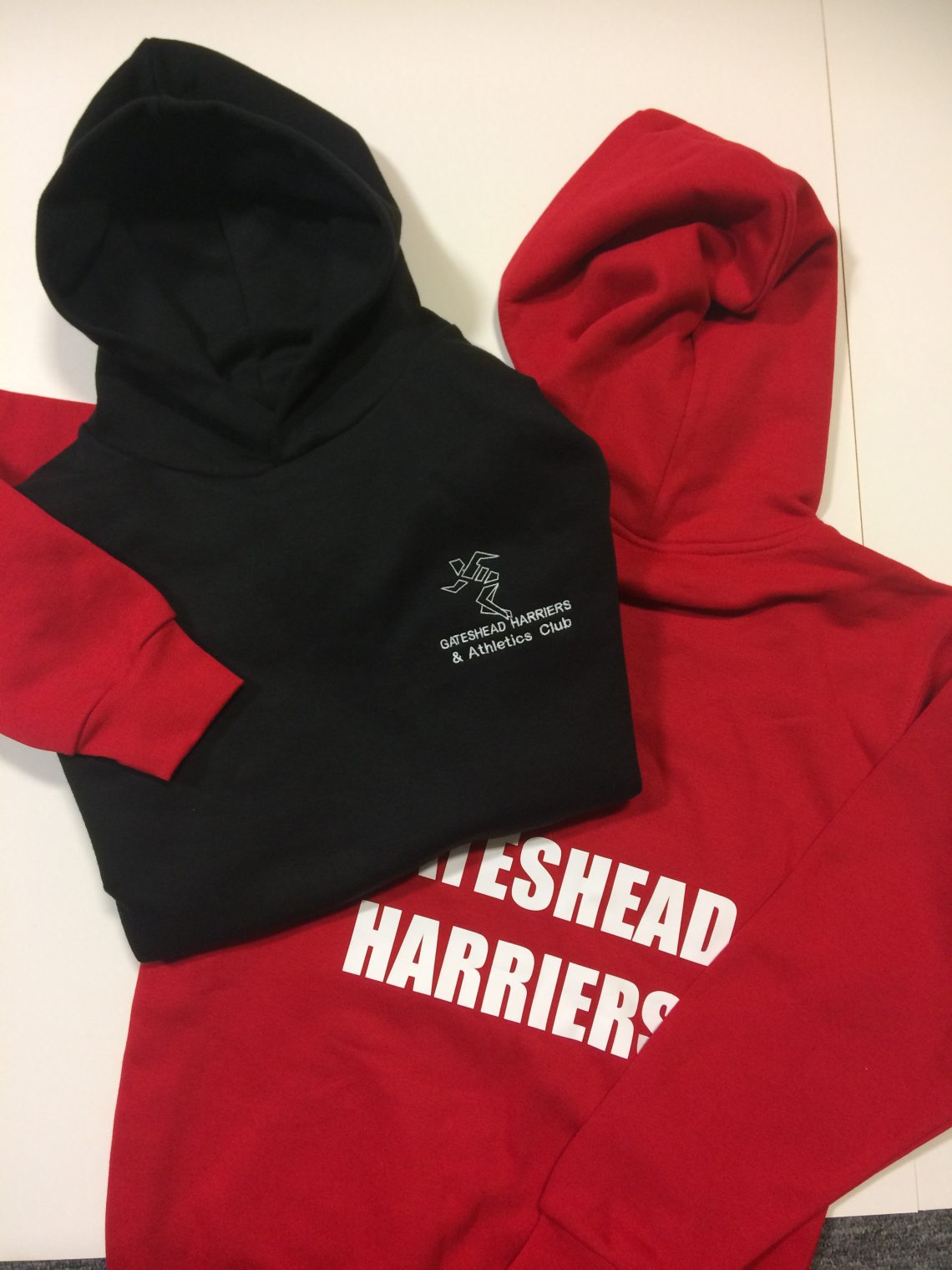 Gateshead Harriers Hoodie Red and Black